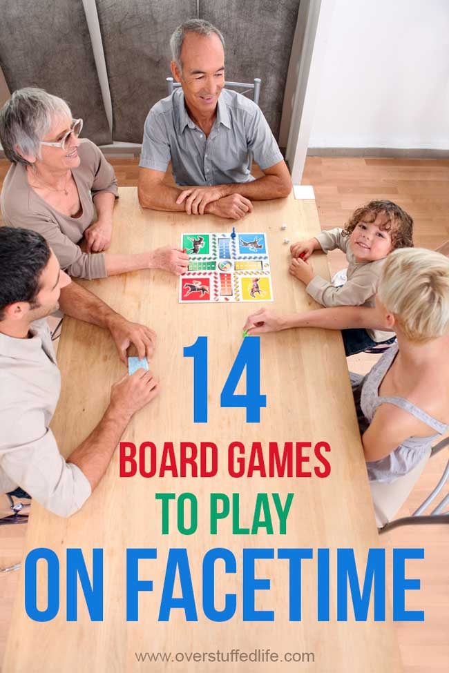 You can still have a fun family game night with loved ones who don't live close enough to come over. These 14 board games are easy to play over FaceTime or other video chatting apps.