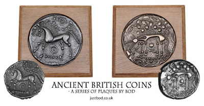 Ancient British Coin wall plaques from Justbod