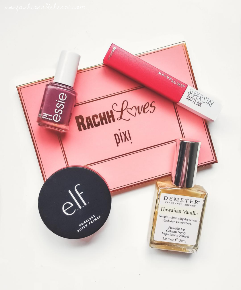 bblogger, bbloggers, bbloggerca, bbloggersca, canadian beauty bloggers, beauty blog, lifestyle blogger, monthly favorites, beauty faves, essie, angora cardi, rachhloves, pixi, the layers, highlight palette, elf cosmetics, e.l.f., poreless putty primer, maybelline, superstay, matte ink, pioneer, demeter, hawaiian vanilla