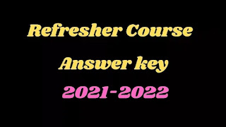 12th Tamil Refresher Course Answer key