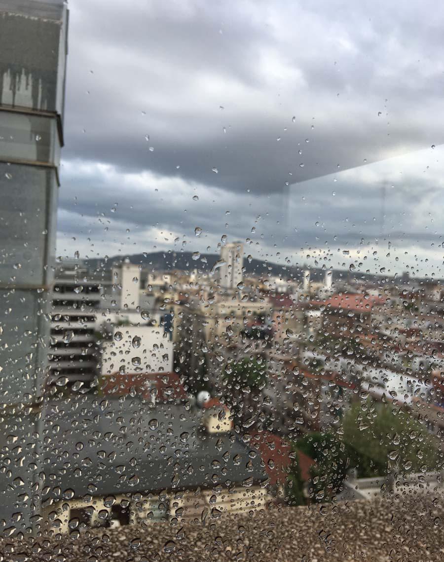 lluvia de septiembre en Barcelona