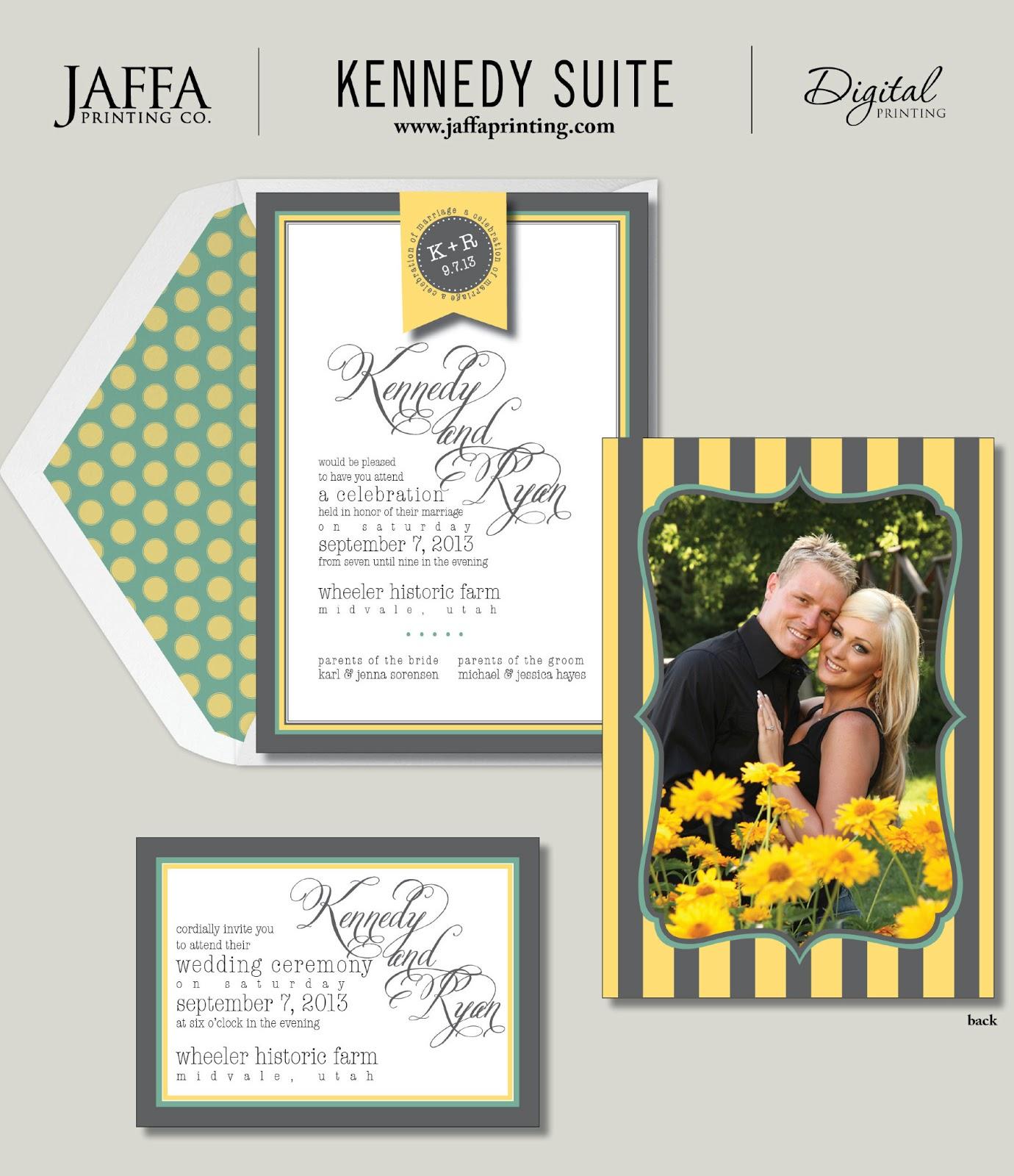 Wedding Invitation Blog: Double-sided Photo Wedding