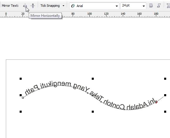 Cara menyesuaikan teks pada path - Kelas Desain   Belajar ...