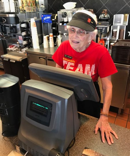 94-Year-Old Woman Who's Been Working at a McDonald's Since 1963 Celebrates with Local Friends and Co-Workers!