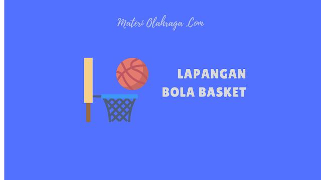 Gambar Ukuran Lapangan Bola Basket Lengkap dengan Keterangannya