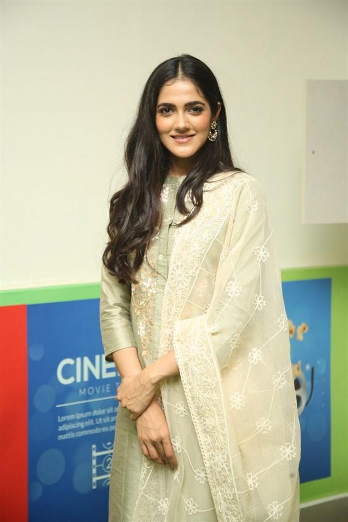 Indian Model Simran Chowdary in Sandal Color Churidar Dress at Sehari Movie Launch Function (6)