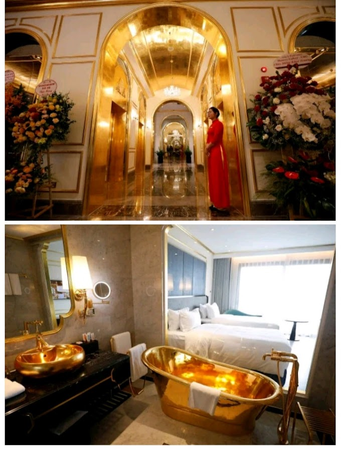 First Gold-Plated hotel in the world Opens in Vietnam (Photos)