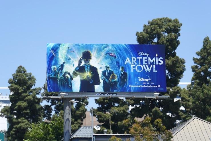 Artemis Fowl film billboard