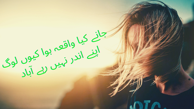 urdu shayari - poetry in urdu - 2 line poetry for facebook and whatsapp status- jannay kia hua dard shayari