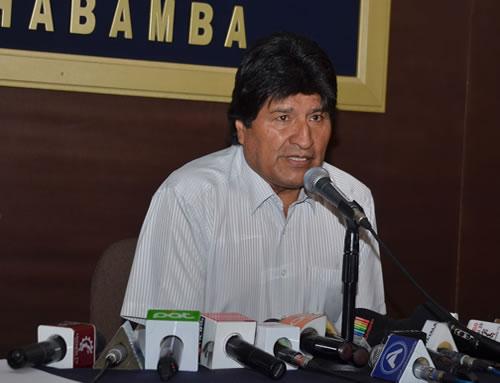 Evo Morales anuncia contrademanda por el tema de las aguas del Silala