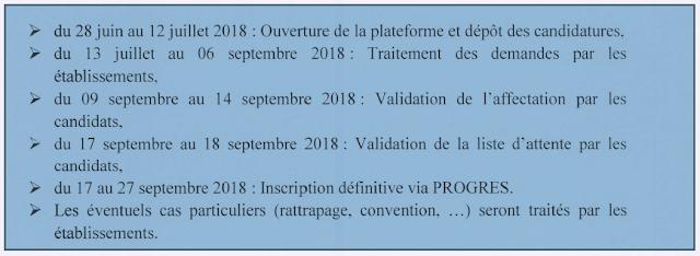 رزنامة التسجيل في السنة الاولى ماستر 2018-2019 عبر البوابة