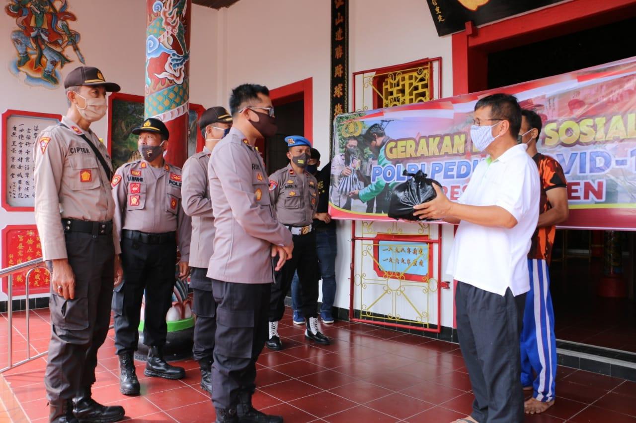 Pengurus Tempat Ibadah Dapat Bantuan Sembako dari Polres Kebumen