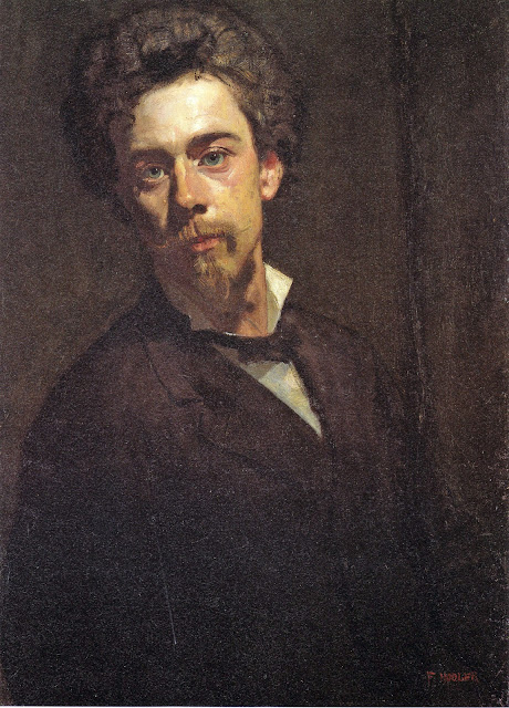 Henri-Lucien Doucet, Self Portrait, Portraits of Painters, Fine arts, Portraits of painters blog, Paintings of Henri-Lucien Doucet, Painter Henri-Lucien Doucet
