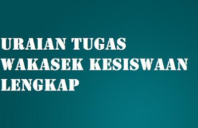 Tugas Wakasek Kesiswaan