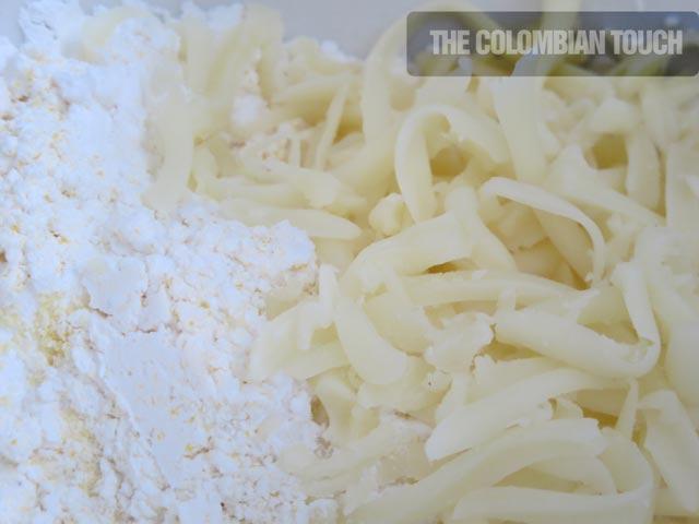 mozzarella y harina