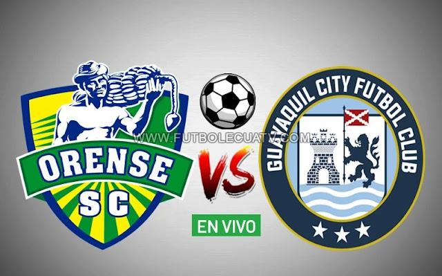 Orense se mide ante Guayaquil City en vivo prosiguiendo la fecha tres de la liga pro a realizarse en el reducto 9 de Mayo Ciudad de Machala a partir de las 16h30 hora local, siendo el árbitro principal Alex Cajas con emisión del medio oficial GolTV Ecuador.