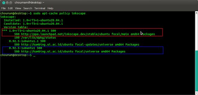 Perbandingan antara paket di repositori sistem dengan PPA