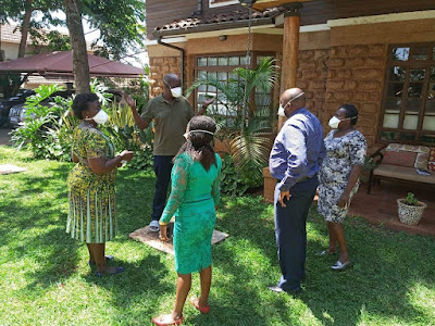 Lands CS Gideon Mung'aro testing COVID-19 at his home