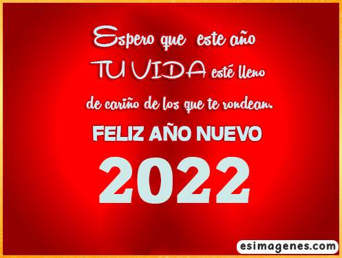 mensaje de año nuevo 2022