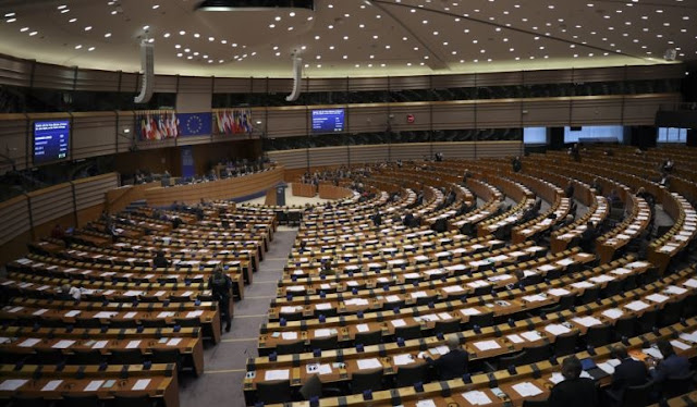 European lawmakers adopt a resolution against Russian intervention in Europe