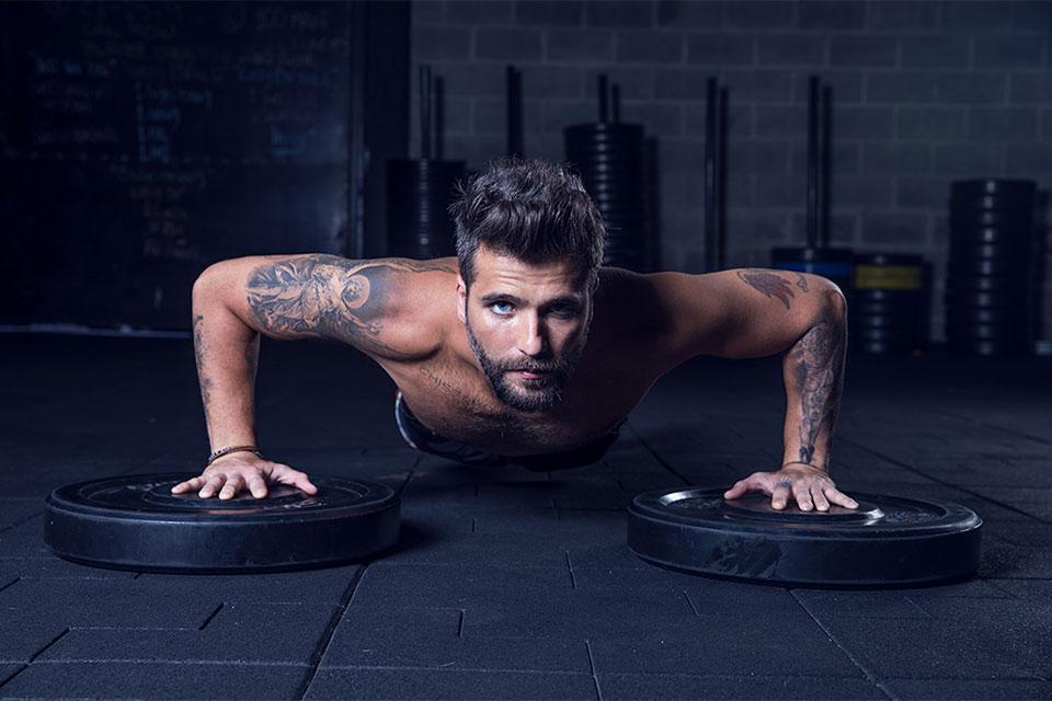 Adepto do CrossFit, Bruno Gagliasso estrela a nova campanha da Midway Labs. Foto: Divulgação