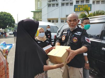 Forum Koordinasi Pencegahan Teroris (FKPT) Provinsi Lampung, berikan bantuan Sembako dan Masker