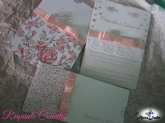 Outubro Rosa - Convite de casamento rosa