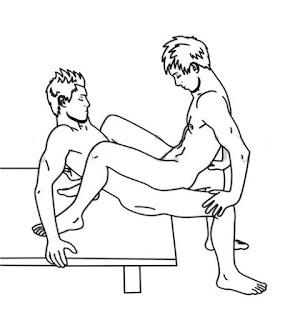 Tư thế làm tình đồng tính nam tư thế ngồi