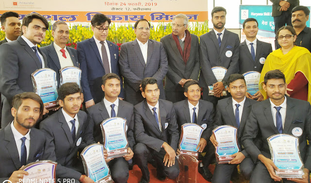 Cabinet Minister, Vipul Goyal has been honored by the competent comrades who have given thousands of youth employment training
