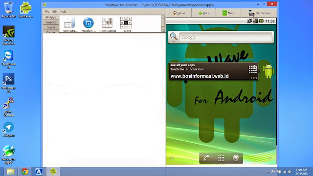 Install WhatsApp dengan Youwave