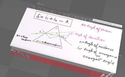 Relation between Angle of Incident Emergent Angel Angle fo Deviation and Angle of Prism Physic