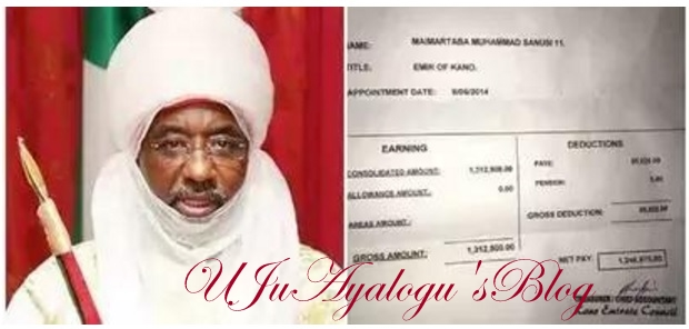 Alleged embezzlement: Emir Sanusi releases his April salary payslip (photo)