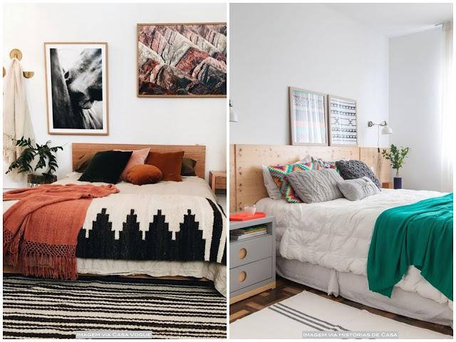 decoração simples para o quarto de casal