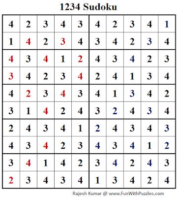 1234 Sudoku (Fun With Sudoku #134) Solution