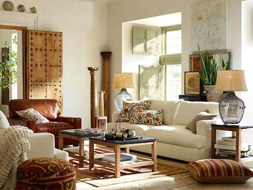 Ethnic Cottage Decor: LIVING ROOMS...Rooms To LIVE In