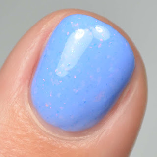 cornflower blue nail polish swatch