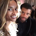 Ciara happily shares a dinner table card that has her new surname