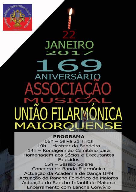 AMUFMaiorquense comemora 169.º aniversário