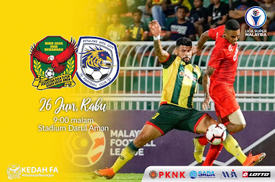 Live Streaming Kedah vs Pj City