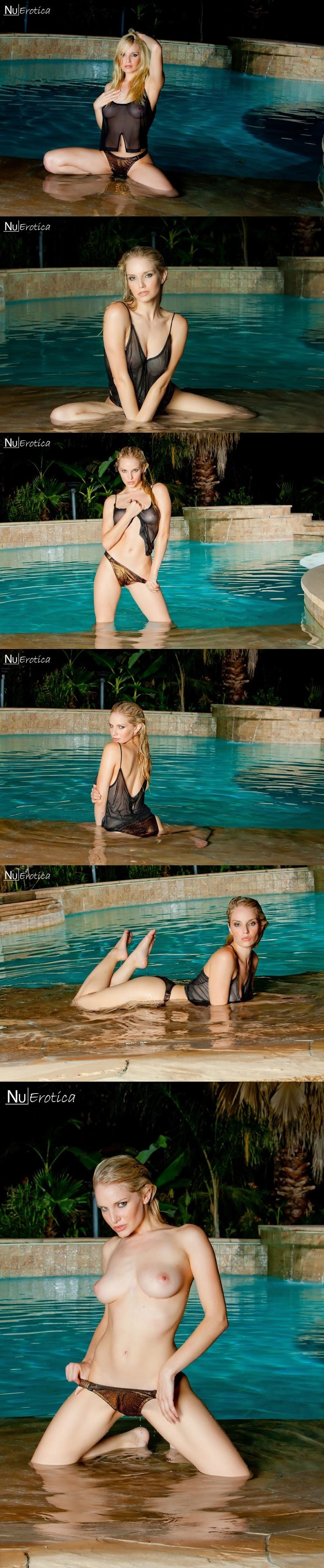 NuErotica 2015-12-12 Liz Ashley - Liz Ashley Nighttime Pool Fun