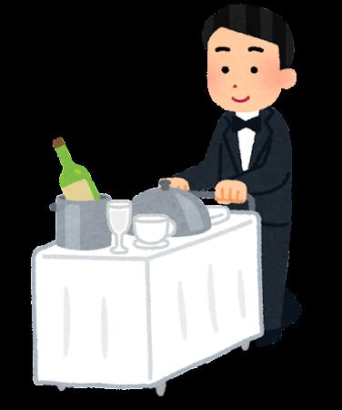 ルームサービスのイラスト(男性)
