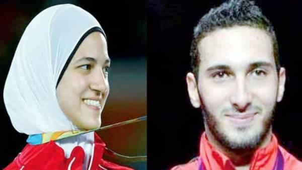 تعرف علي الثنائي المختار لحمل علم مصر