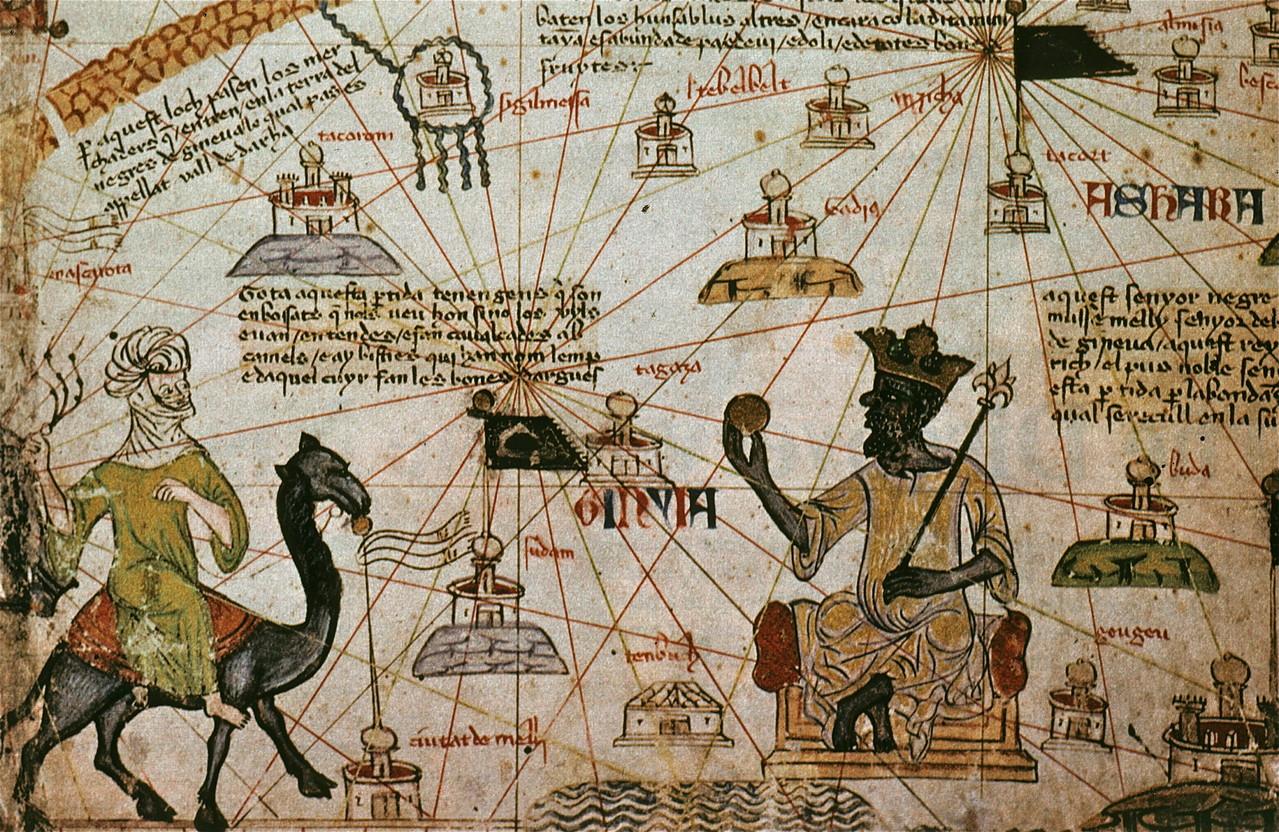 Representación del sultán Musa I de Mali en un texto antiguo