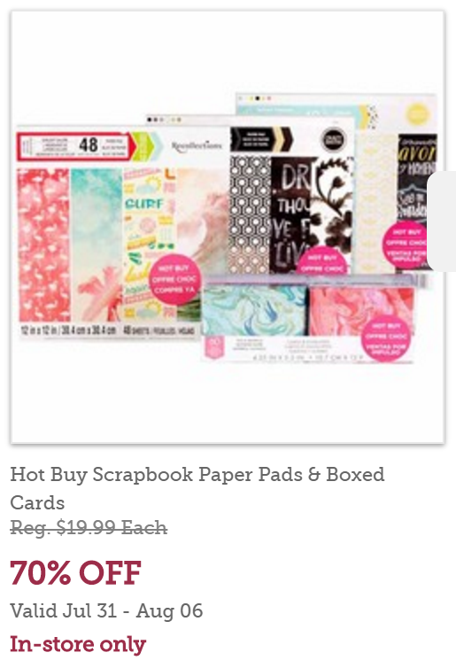 Michaels Hot Buy Scrapbook Paper Pads Boxed 70 Off Now 599