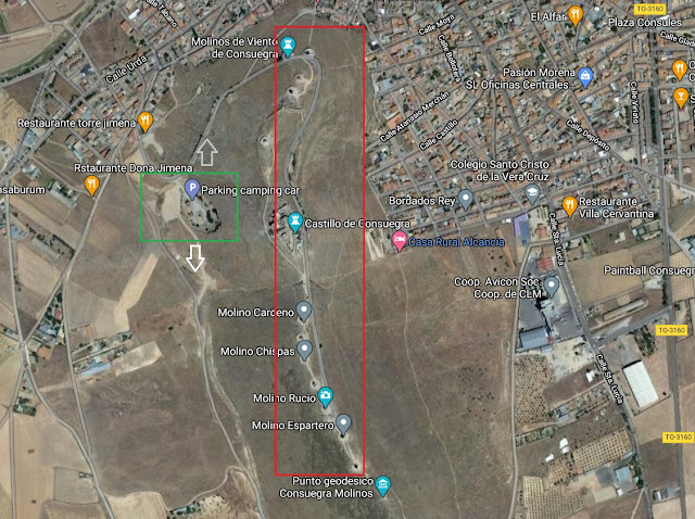 mapa localización molinos de Consuegra
