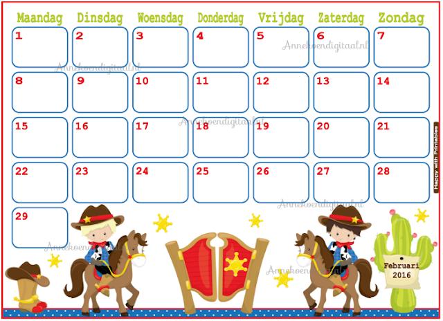 2016 kalender, kalender voor kinderen, kinder kalender, aftelkalender, schattige kalender, kalender printable, printen kalender