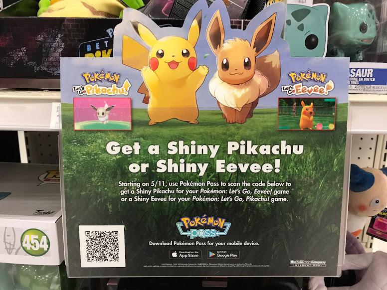 Pokémon Pass Pikachu & Eevee