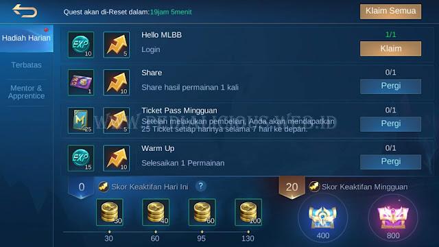 Hadiah Quest Harian