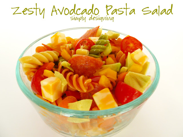 zesty avocado pasta salad 1 Zesty Avocado Pasta Salad + Giveaway! #GetZesty #giveaway #sponsored 15