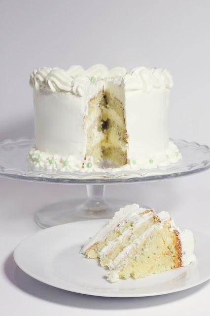 Layer cake de lima y crema de queso - Reto Alfabeto Dulce